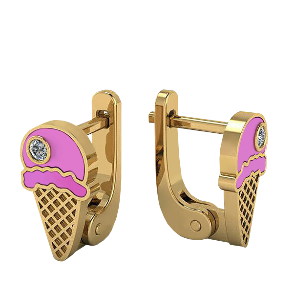 "Earrings ""Ice-cream"""