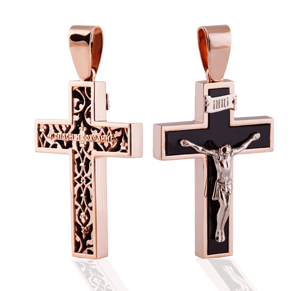 "Man's cross ""Ahates"" with an agate"