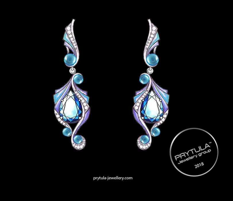 "Earrings ""Sea pears"""