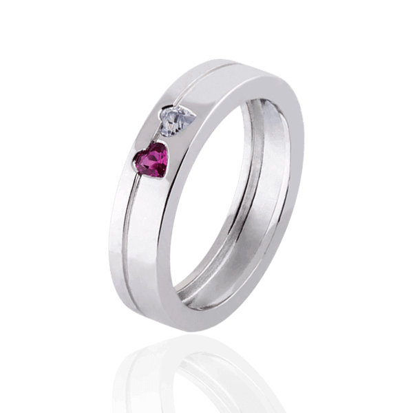 """Hearts"" with diamond and ruby (woman"