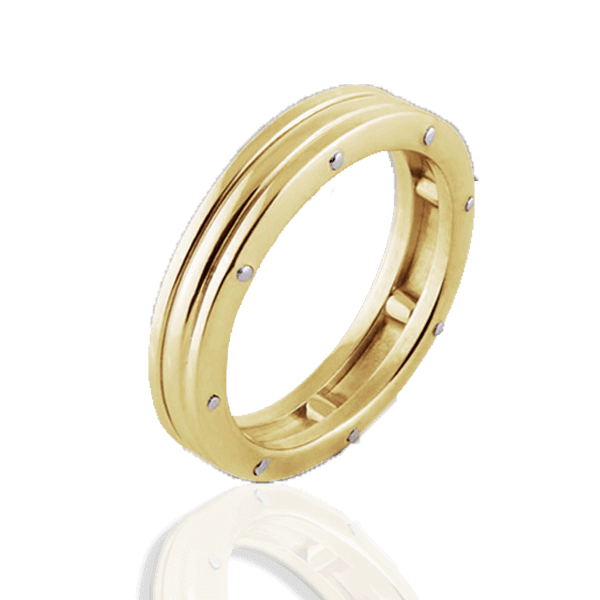 """Lines of Fate"" in yellow gold (man"