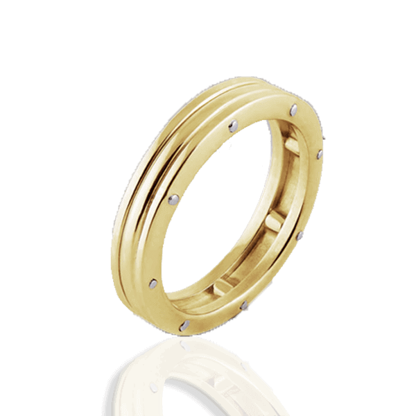 """Lines of Fate"" in yellow gold (woman"
