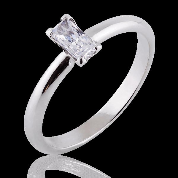 Каблучка для заручин з платини з діамантом