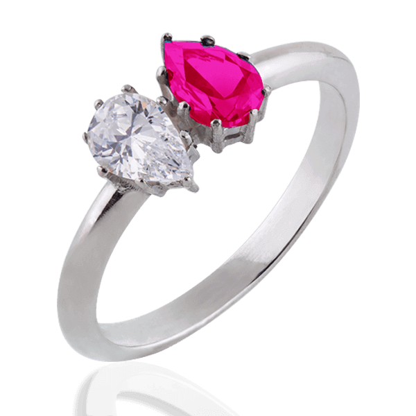 """Josephine"" with a diamond and ruby"