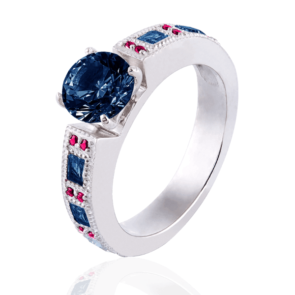 """Victoria"" with sapphires and rubies"