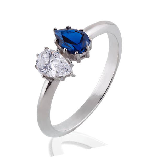"""Josephine"" with a diamond and sapphire"